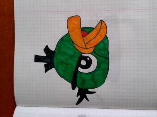 Я рисую Птиц из Ангри Бердс